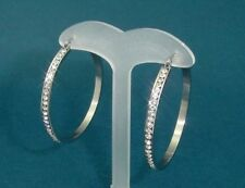 stainless steel hoop earrings with cubic zirconia crystals 1332