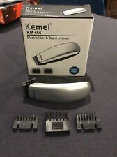 Electric Hair And Beard Clipper KEMEI KM-666 Battery Travel Professional Trimmer