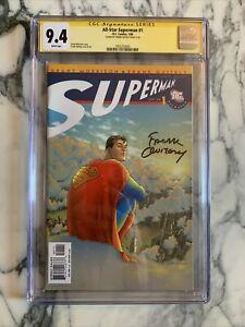 SIGNED QUITELY! rare! ALL STAR SUPERMAN #1 CGC 9.4 grant morrison