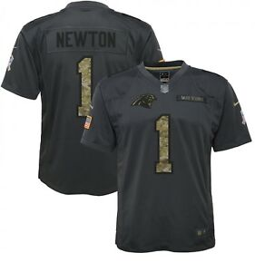NWT YOUTH PANTHERS CAM NEWTON NIKE 2016 SALUTE TO SERVICE JERSEY SZ M (BB081)