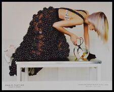 Mario testino Gemma ward poster art imprimé avec cadre alu en noir 36x28cm