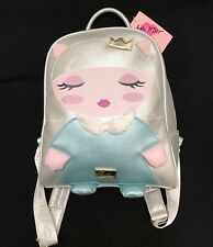 Luv Betsey Johnson PVC Queen Princess Crown Silver Small Backpack Lbmira