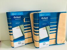 2x Oxford Snap Binders 475 Sheets 2 Round Ring Size A4 With 2 Pockets Zipper Nw