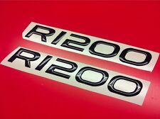 2 Adhésifs Stickers Moto BMW R 1200 GS 3D Résine Noir Réservoir