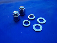 HARLEY DAVIDSON  CHROME FRONT AXLE CAP NUT KIT Fits 1984-2013