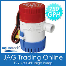 12V SUBMERSIBLE BILGE WATER PUMP 750 GPH / 2850LPH - Boat/Marine/Bait Tank/Fish