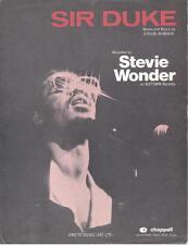 Sir Duke - Stevie Wonder - 1976 Sheet Music
