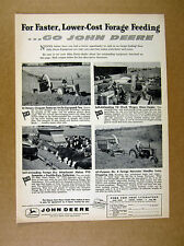 1958 John Deere Rotary Chopper Forage Wagon Box Harvester 4x photo print Ad