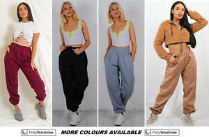 Fleece Oversized Joggers Sweatpants Cuffed Bottoms Jogging Gym Pants LoungeWear