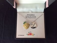 Truly Inspired Silver Plated Fine Jewelry Genuine Crystal Grandma Charm Necklace