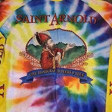 Saint Arnold Vibrant TIE DYE Texas Beer Vomax Cycling Bike Jersey Men's LG SA6