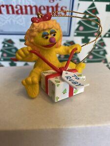 Ruby Sesame Street Jim Henson Grolier Christmas  Ornament In Box