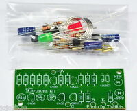 Basic In Circuit Transistor Tester  NPN / PNP 2 x LED Unassembled Electronic kit