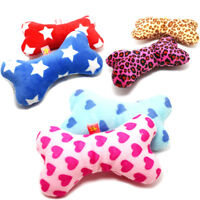 Pet Dog Puppy Latex Chew Sound Squeaker Squeaky Training Toy Bone Pillow 1PCS