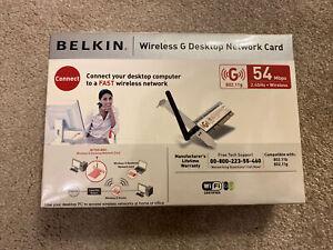 Belkin F5D7000 802.11g 54 Mbps Wireless Desktop Network Card PCI P81552-A
