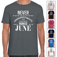 Never Underestimate An Old Man Born In June - Mens T Shirt Birthday Gift Fun
