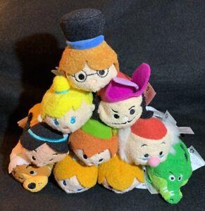 Disney Store Peter Pan Tsum Tsum Plush Complete 10 Piece Set New