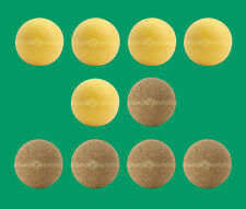 10 Foosballs: 5 Yellow Textured & 5 Natural-Colored Cork Table Soccer Balls