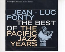 CD JEAN-LUC PONTYthe best of the pacific jazz yearsEX+ ( A2432)