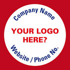 Personalised Business Name Stickers Company Promotion Logo Badge Address 398