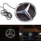 LED Light Front Grille Emblem Illuminated Badge White For Mercedes Benz 11-15