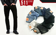 Levis 511 Jeans Black Night Shine Blue Rise Regular Fit Trouser Mens Denim Pants