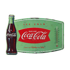 COCA COLA VINTAGE REPLICA THERMOMETER SIGN SPORTS ORIGINAL COLORS TAGLINE ENJOY