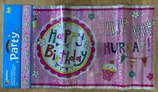 New Qualatex 2.6m Birthday Celebration Party Foil Banner Badge And Candles