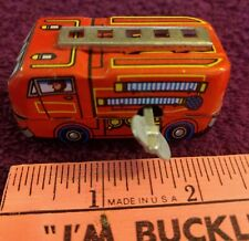 Fire Truck NIB - MS 261 - Works Great - Wind Up - Rare