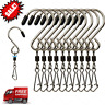 10pcs Swivel S Hooks Clips Hanging Wind Spinners Chimes Crystal Twister Rotating