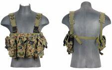 Lancer Tactical AK Airsoft Chest Rig w/ Vest Pouch MARPAT Woodland Digital