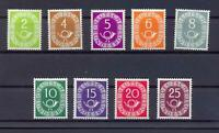 Bund 123-31 Posthorn 2-25 Pfg. postfrisch teilweise geprüft Schlegel (ps45)