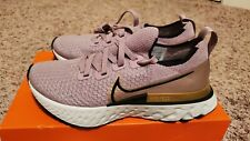 New Womens Nike React Infinity Run Flyknit Sz 5.5 Running Shoes Pink Gold Plum