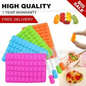 Silicone Gummy Bear Chocolate Jelly Mold With Dropper Candy Maker Ice Tray Mould