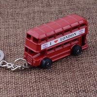 1 Piece Exquisite I Love London Red Bus Key Chain Key Ring Key Holder Souvenir