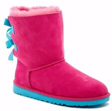 UGG AUSTRALIA BAILEY BOW PRINCESS PINK BLUE BOOTS  US 6 FITS WOMENS US 7.5 TO 8