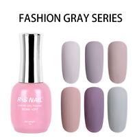 RS Nail Gel Nail Polish UV LED Soak Off Grey Colour Matte Effect Top Coat 15ml