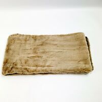 Vintage Emporio Armani Brown Faux Fur Scarf Shawl Stole Wrap Made in Italy