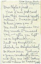 1939 Handwritten Letter to Mr & Mrs J Ainsworth Morgan Writer