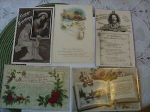LOT OF 5 OLD POST CARDS CHRISTMAS / NEW YEAR