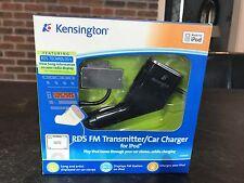 KENSINGTON RDS FM Transmitter/Car Charger for iPod #K33364US NIB
