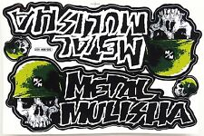 Grand autocollant sticker MX Motocross Metal Mulisha vert 265 x 170 mm #m18