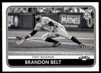 2020 Big League Base Black & White #226 Brandon Belt /50 - San Francisco Giants