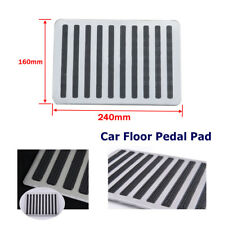 Stainless Steel+Rubber Car Floor Carpet Mat Patch Foot Heel Plate Pedal Pad