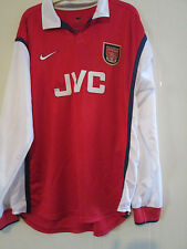 Arsenal 1998-1999 Long Sleeved Player no 5 Home Football Shirt Large /40046