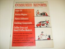 Consumer Reports Magazine May 1969 Volume 34 Station Wagons Coffee Makers / j1