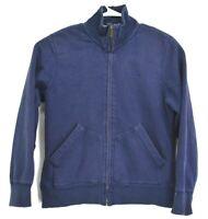 Eddie Bauer Men's Large Sherpa Line Inside Full Zip Blue Heavyweight Jacket
