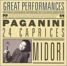 Paganini: 24 Caprices for Solo Violin, Op. 1 N. Paganini, Midori Audio CD