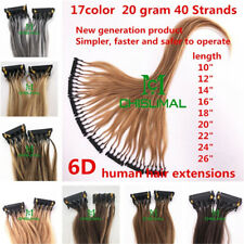 2020 New 6D Remy Human Hair Extension 12 14 16 18 20 22 24 26inch Hair 20g 40s