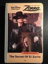 Walt Disney Home Video The Secret Of El Zorro VHS Tested